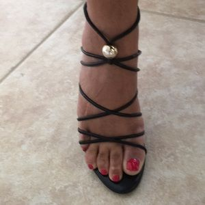 Sergio Rossi Strappy Ankle High Heels Sandals